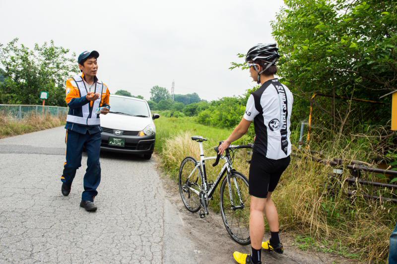 自転車の au 自転車 ロードサービス : ... ロードサービス会社が来て