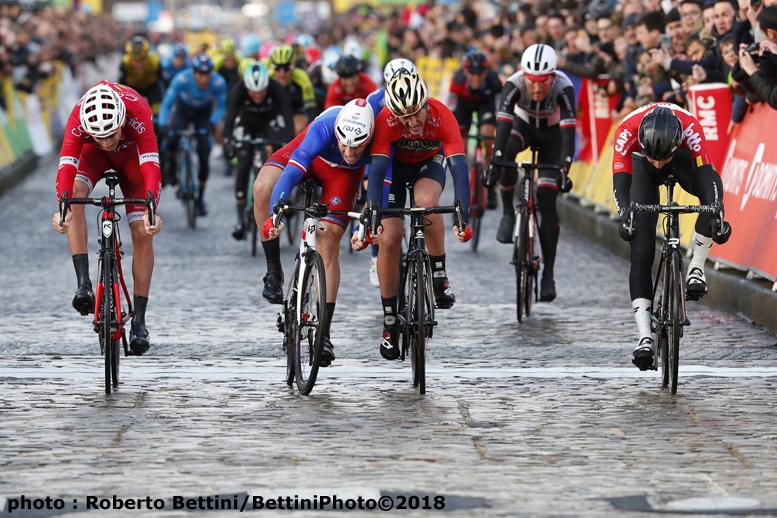 パリ~ニース第1ステージは石畳の丘ゴールでフランスチャンピオンのデマールが優勝