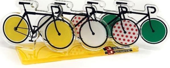 4賞ジャージモチーフ自転車アクリルキーホルダーとオリジナルスタンド