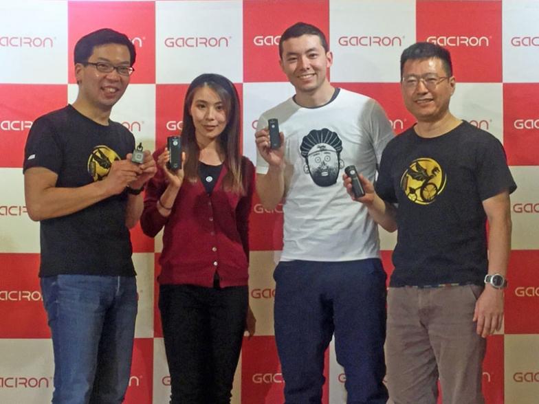 左からガシロンジャパンの家本賢太郎代表、ブロガーの篠さん、ユーチューバーのけんたさん、ガシロン創業者の陳祥宝氏
