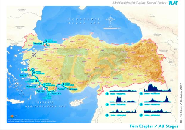 Map : Presidential Tour of Turkey