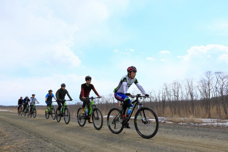 釧路湿原国立公園の中をeバイクで散走