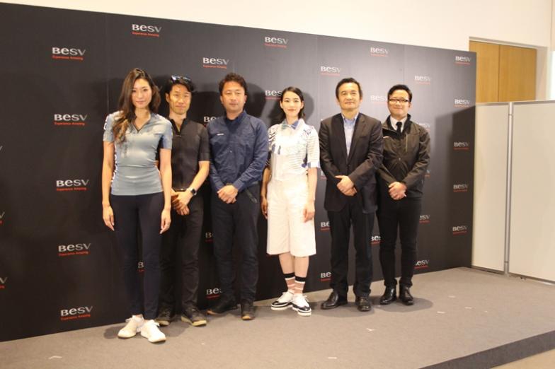 アンディ・スー会長とのんさんを中心に、BESVJAPAN代表の澤山俊明氏や増田宗禄副会長が並んだ