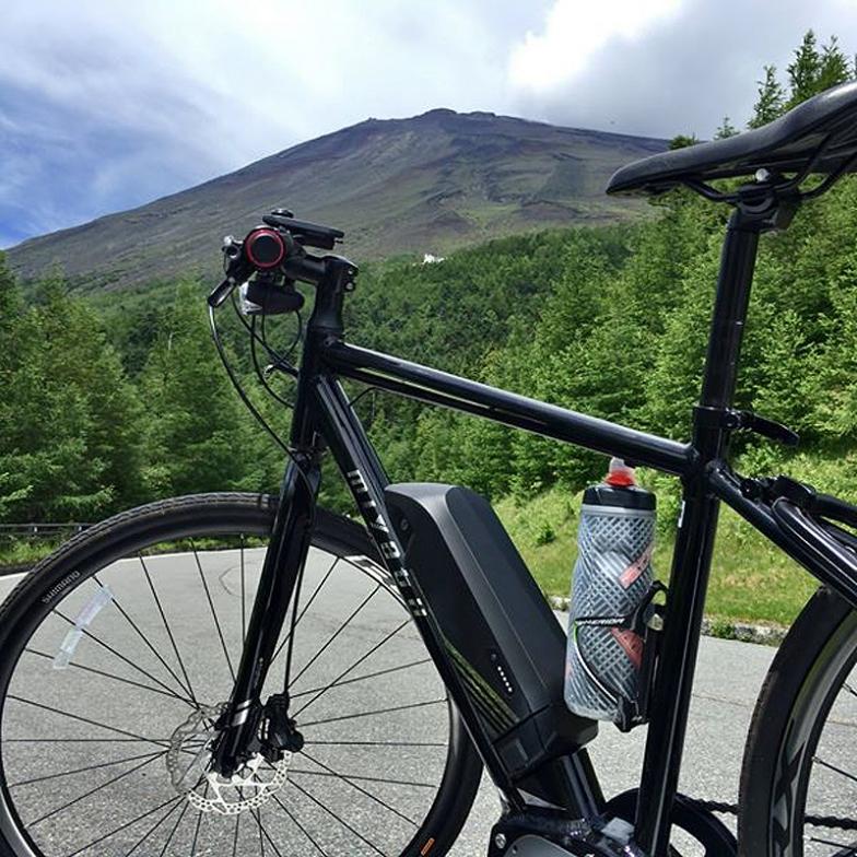 eバイクであれば、掬水から富士山の5合目まで軽々行ける