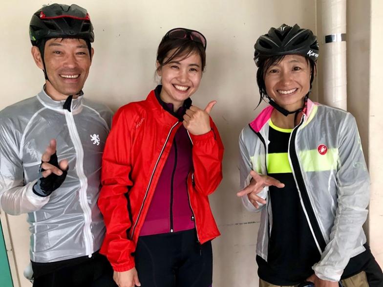 奥様の誘いで自転車を始めて1年という谷内ご夫妻「坂では選手が待っていてくれ、一緒にゴールできました!」