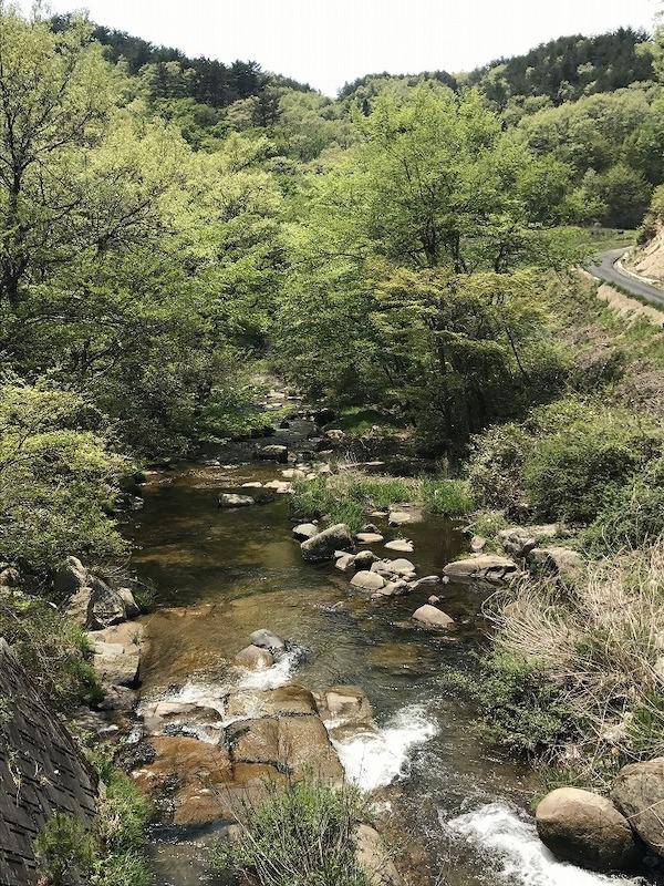 自然豊かで起伏に富んだ葛尾村。渓流が心地よい葛尾川の側も含めたオンロードがコースとなる