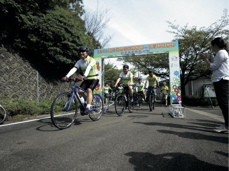 来島海峡大橋の四国側にある糸山サイクリングターミナルが、この日のスタート地点。