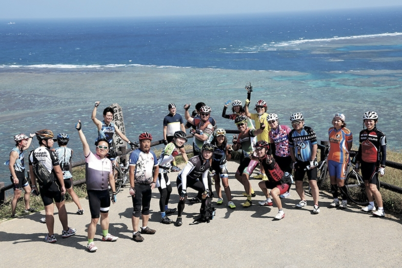 ロングコース折り返し地点、平久保灯台からの絶景!