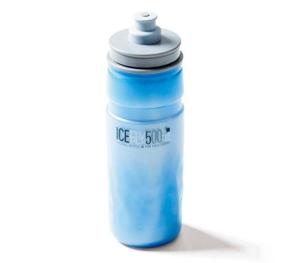 保冷ボトルは内容量が大きく、軽量なものを選ぶのがお勧め。写真はエリート・アイスフライサーモボトル