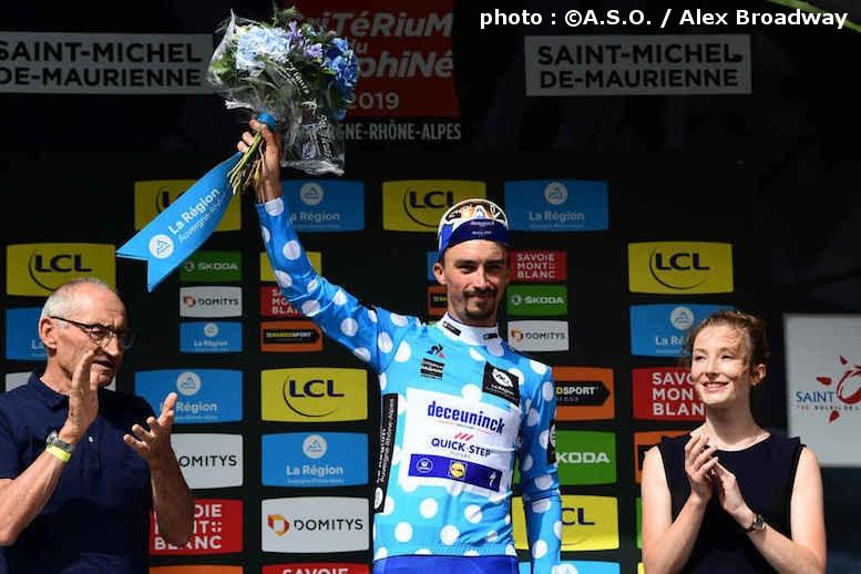 山岳賞のマイヨ・アポワを獲得したアラフィリップ