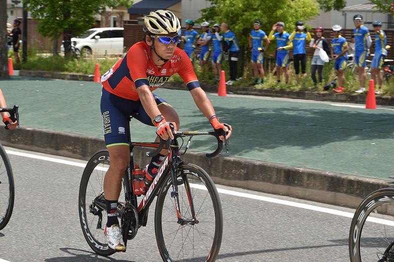 2018ツアー・オブ・ジャパン第2ステージの新城幸也(バーレーン・メリダ)