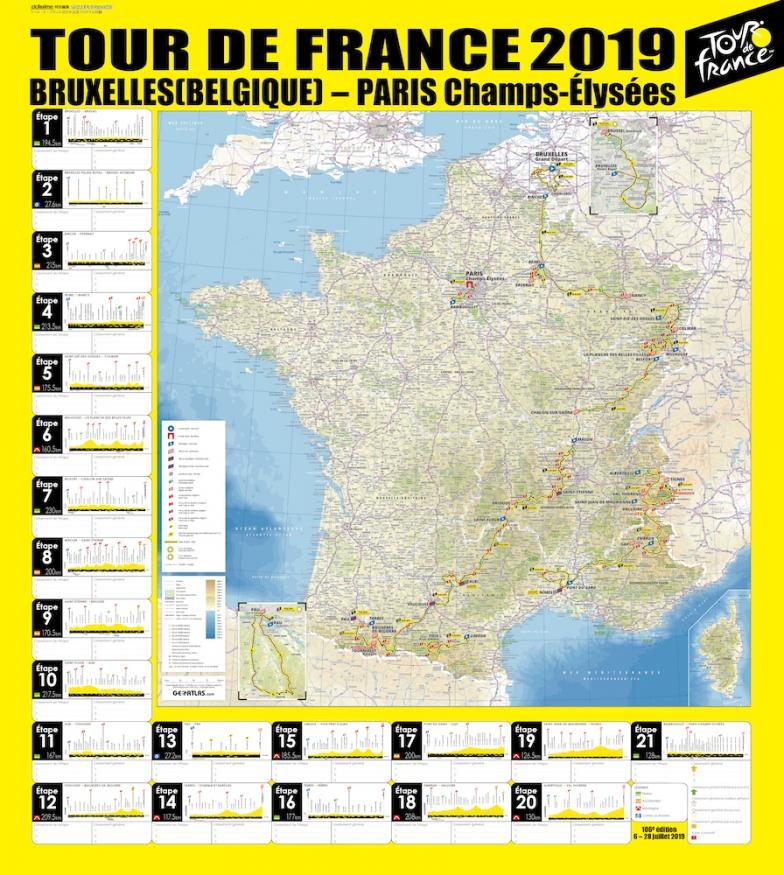 付録のポスター(表面)全21ステージ特大ルートマップ