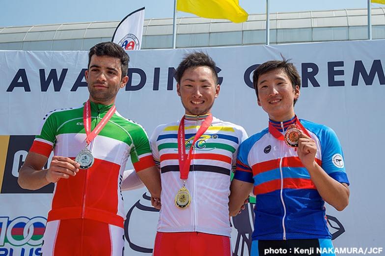 男子U23ロードレースで金メダルを獲得した山本大喜
