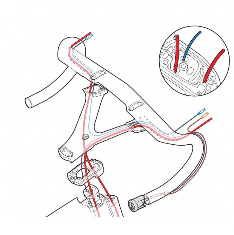 ワイヤ内蔵ルート図