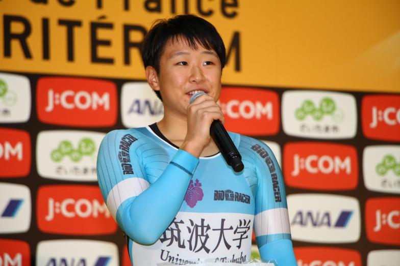 個人TT・女子で優勝の梶原「こんなに大勢の観客の皆さん前を多くの声援を受けながら走ることができ、とてもうれしかった」