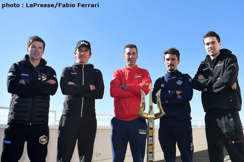 左からログリッチェ、トーマス、ニバリ、アラフィリップ、ドゥムラン