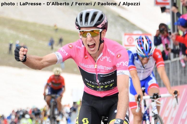 マリア・ローザで区間優勝したサイモン・イエーツ