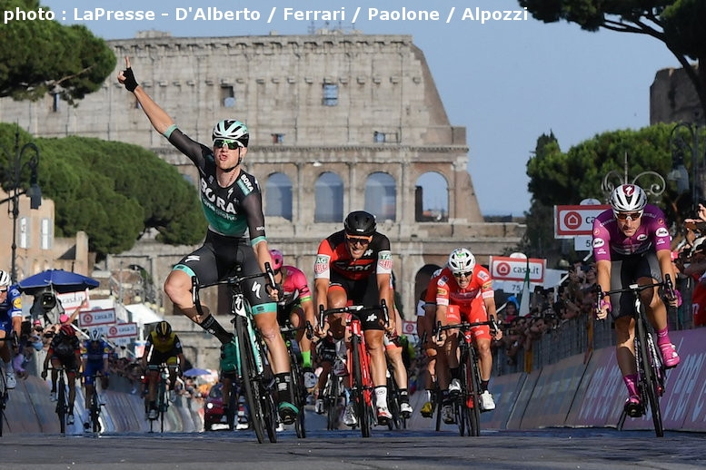 ローマ最終区間はベネットが優勝した