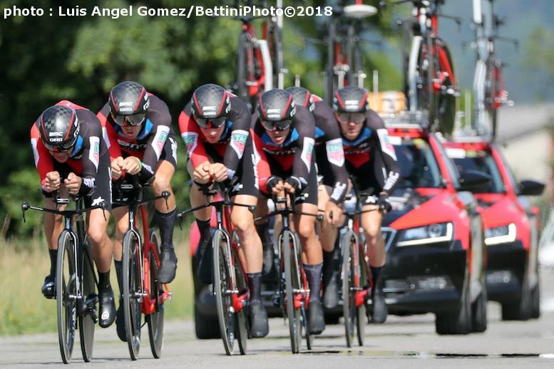スイス初日のチームTTで優勝したBMCレーシングチーム (©Bettiniphoto)