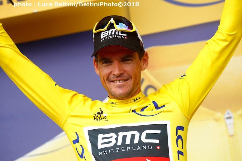 第3ステージからマイヨ・ジョーヌを守り続けているベルギーのヴァンアーヴェルマート (©Bettiniphoto)