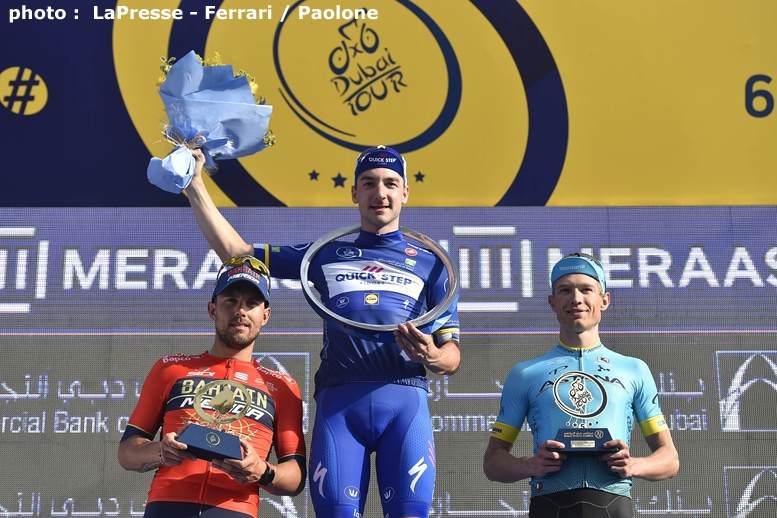 左から総合3位のコルブレッリ、総合優勝のヴィヴィアーニ、総合2位のニールセン