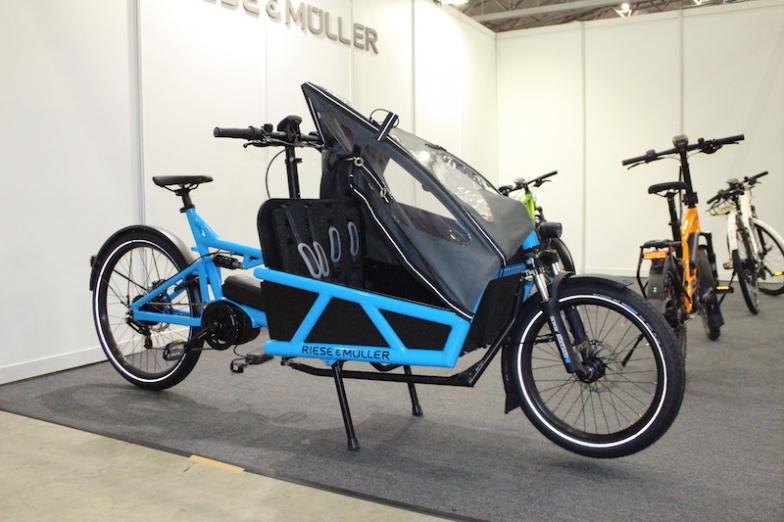 ライズ&ミューラーは子ども乗せeカーゴバイクなどを展示した