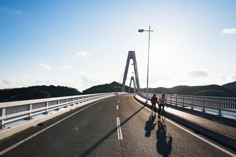 弓削島と生名島を結ぶ弓削大橋を快走。まさに「爽快!」の一言