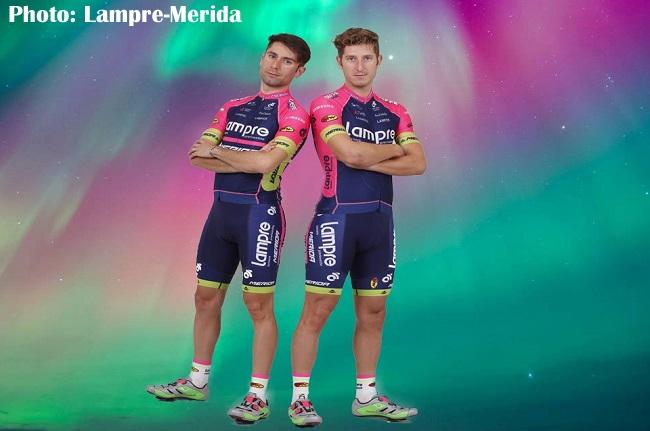 新しいチームジャージを着たディエゴ・ウリッシとサシャ・モドロ