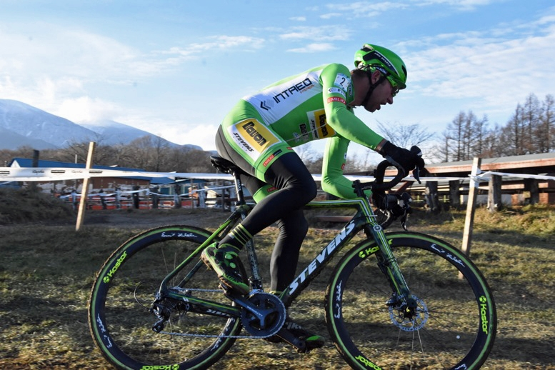 野辺山CXに初参戦したチェコのエミル・ヘケレ(スティーブンスバイクス・エミリオスポーツ)