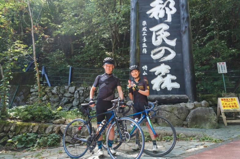 東京におけるヒルクライムの名所「都民の森」で今回のインタビューを行った