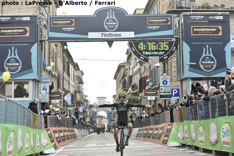 独走で区間優勝したアダム・イエーツ