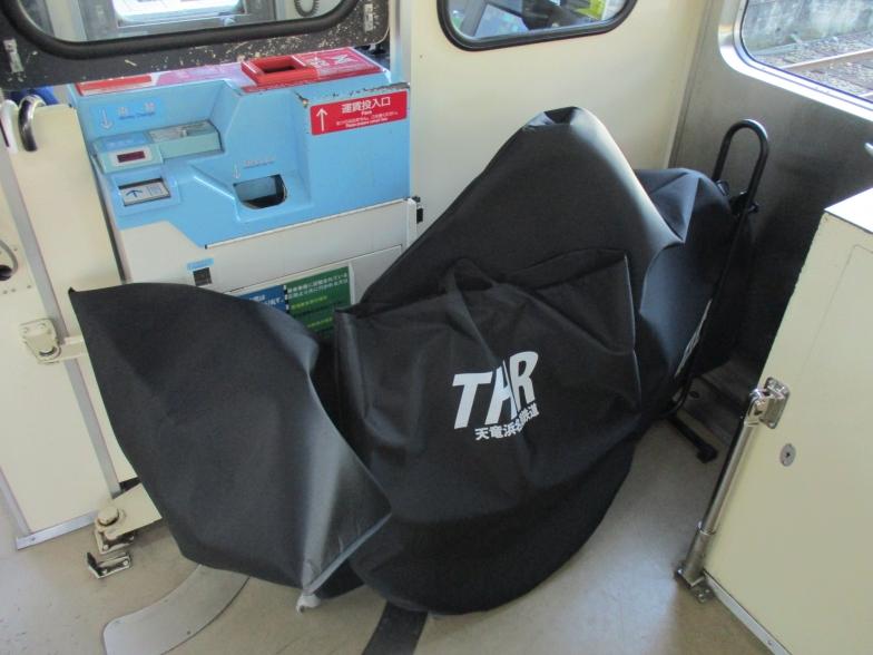 無料レンタル輪行バッグの車内持ち込み時(天竜浜名湖鉄道のサイトから引用)