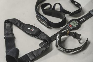 ●心拍トレーニングが普及し始めた頃のハートレートセンサーもラボには保管されている。当時からのこうしたデータも貴重な財産なのだ