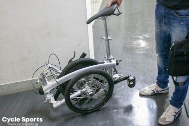 移動モード。この状態で自転車を押しながら移動できる