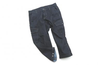 ストレッチデニムクロップドパンツ 裾ベルト付き インディゴ  9800円