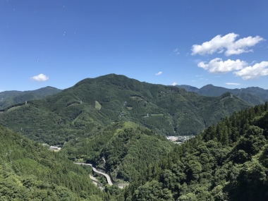 上野村の山並み