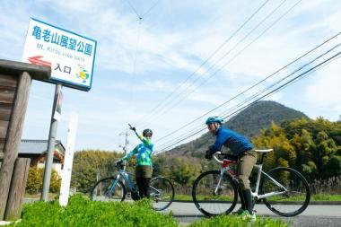 そして亀老山が近づくに連れ待望の(?)アップダウンが現れ、徐々に人力オンリーのサイクリストを苦しめる