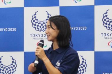 リオパラリンピック陸上400m銅メダリストの重本沙絵選手。同競技が土曜日のゴールデンタイムに行われることについて、みんなに見てもらえるので「最高」と話した