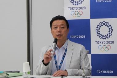 東京2020大会組織委大会運営局会場マネジメント部会場運営担当部長の野仲賢勝さん。イベントは参議院議員選挙の投票日と重なるが、「迂回するなど一定の不便はかけるが、投票に支障がないように準備している」