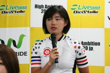 石上夢乃「将来オリンピックに出ることが夢。このチームに準所属として入ってその夢に一歩でも近づければ良い」