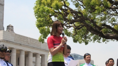自転車アンバサダー、タレントの稲村亜美さん