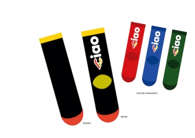 CINELLI CIAO SOCKS 価格:2900円(税抜)サイズ:XS/S・M/L・L/XL