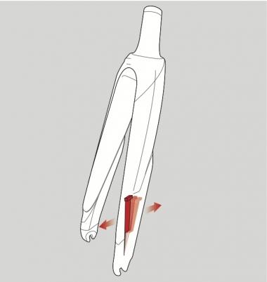 エンドから伸びたプレートにウエイトが取り付けられており、これが前後方向に可動することで振動を収束させている