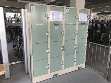 施設内に設けられているコインロッカー。料金は1日300円だ