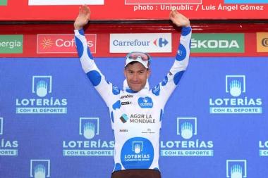 山岳賞ジャージはブシャールが獲得した (photo : Unipublic / Luis Ángel Gómez)