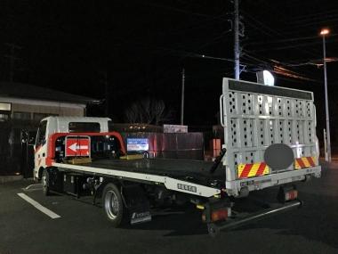 大きなトラック登場