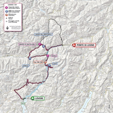変更後はガビア峠を通過しない (MAP : RCS Sport)