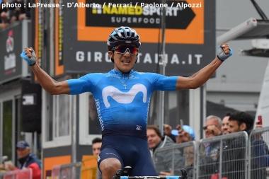 第14ステージで区間優勝して総合首位に立ったカラパス