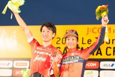 チーム総合一位はツール・ド・フランスジャパンチーム 別府史之、新城幸也