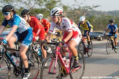 女子U23 ロードレースで8位の下山美寿々
